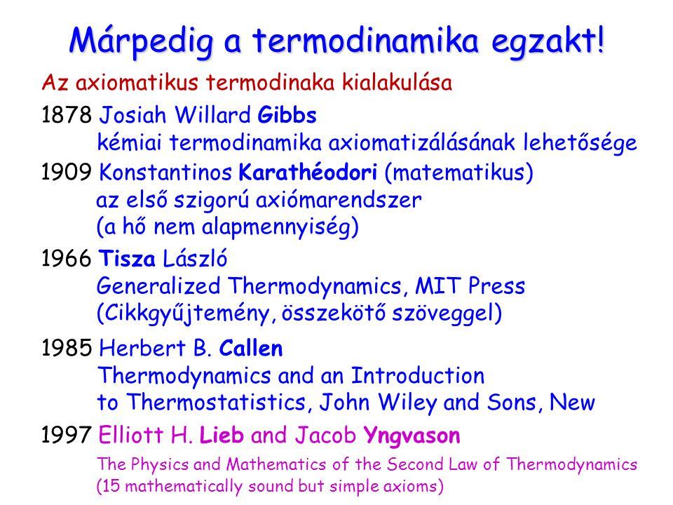 Márpedig a termodinamika egzakt!
