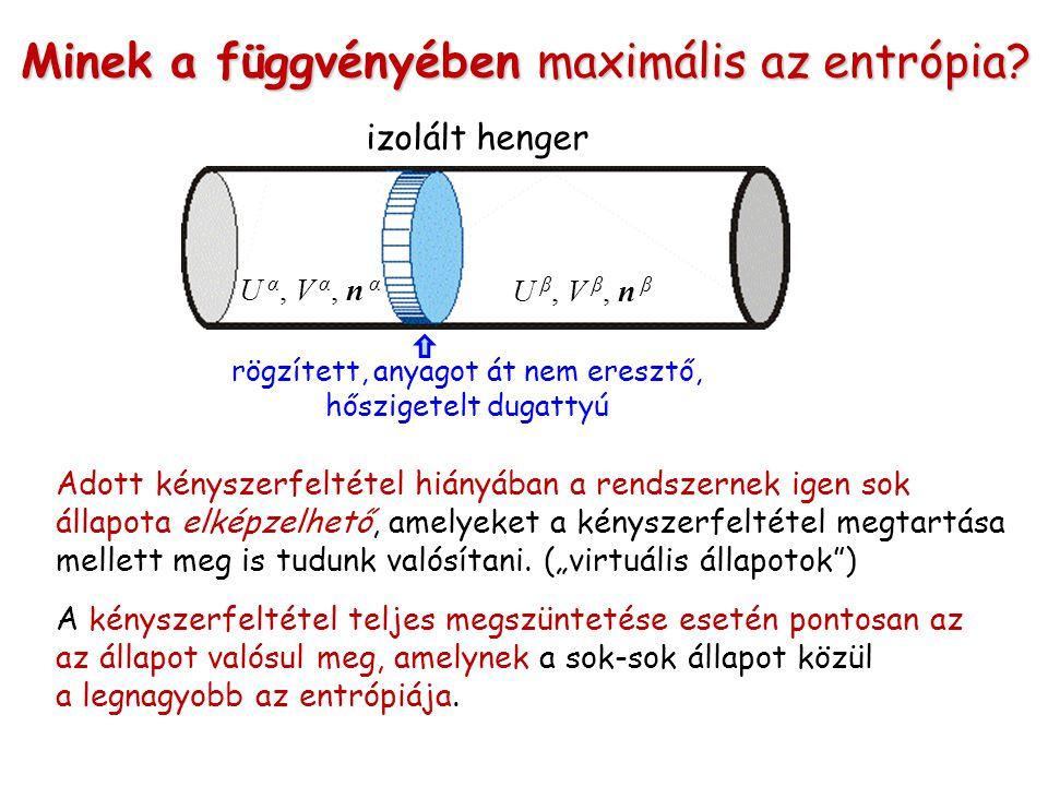 Minek a függvényében maximális az entrópia