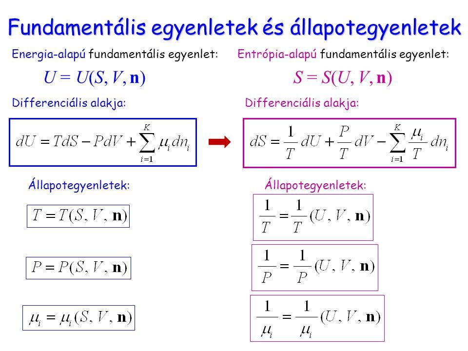 Fundamentális egyenletek és állapotegyenletek