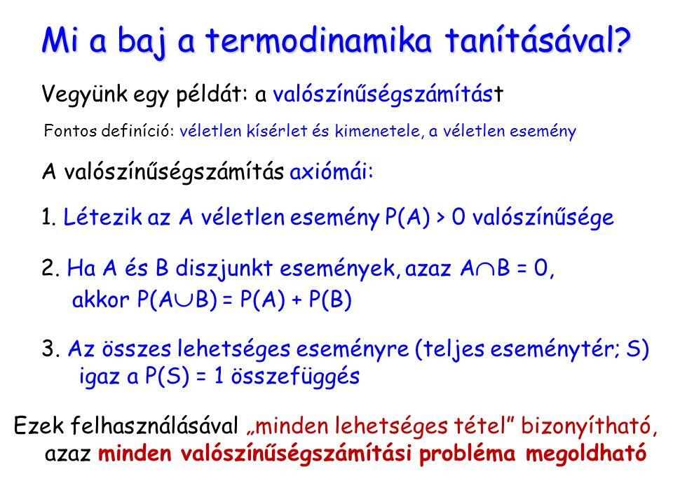 Mi a baj a termodinamika tanításával