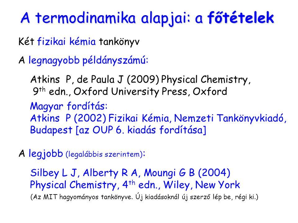 A termodinamika alapjai: a főtételek