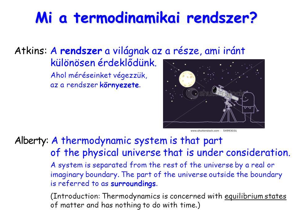 Mi a termodinamikai rendszer