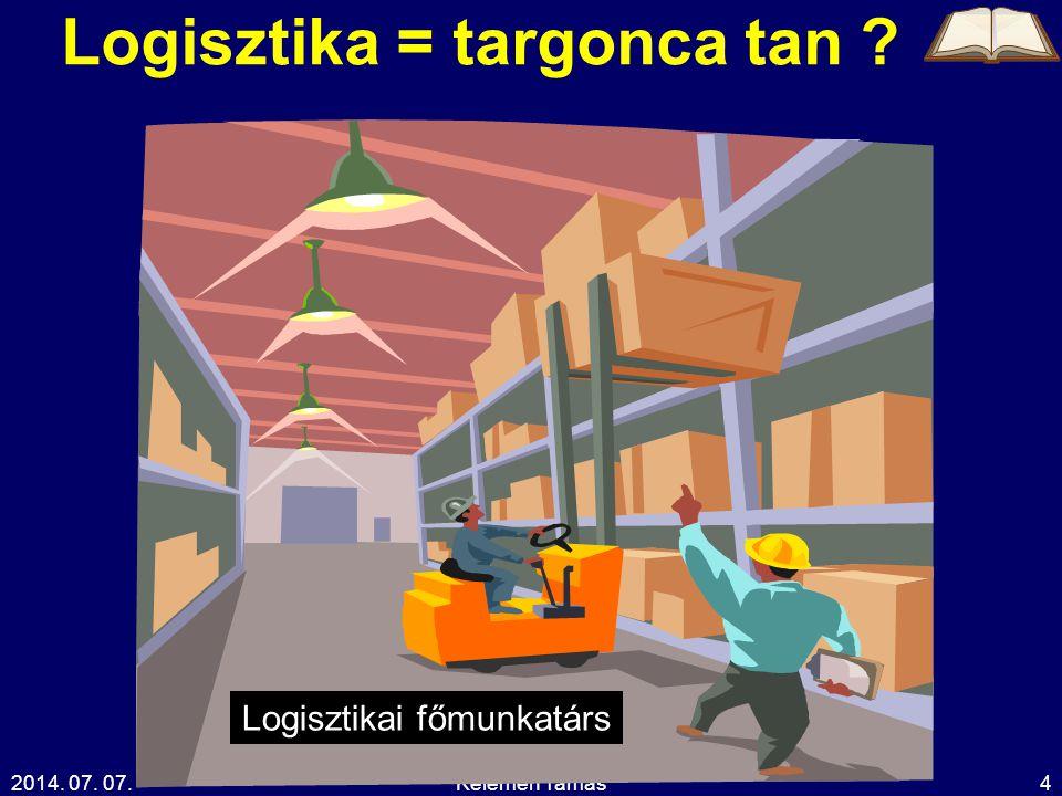 Logisztika = targonca tan
