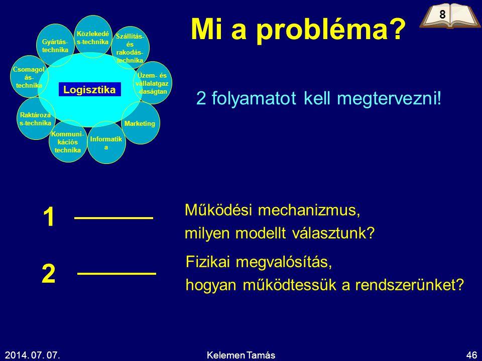 Mi a probléma 1 2 2 folyamatot kell megtervezni!
