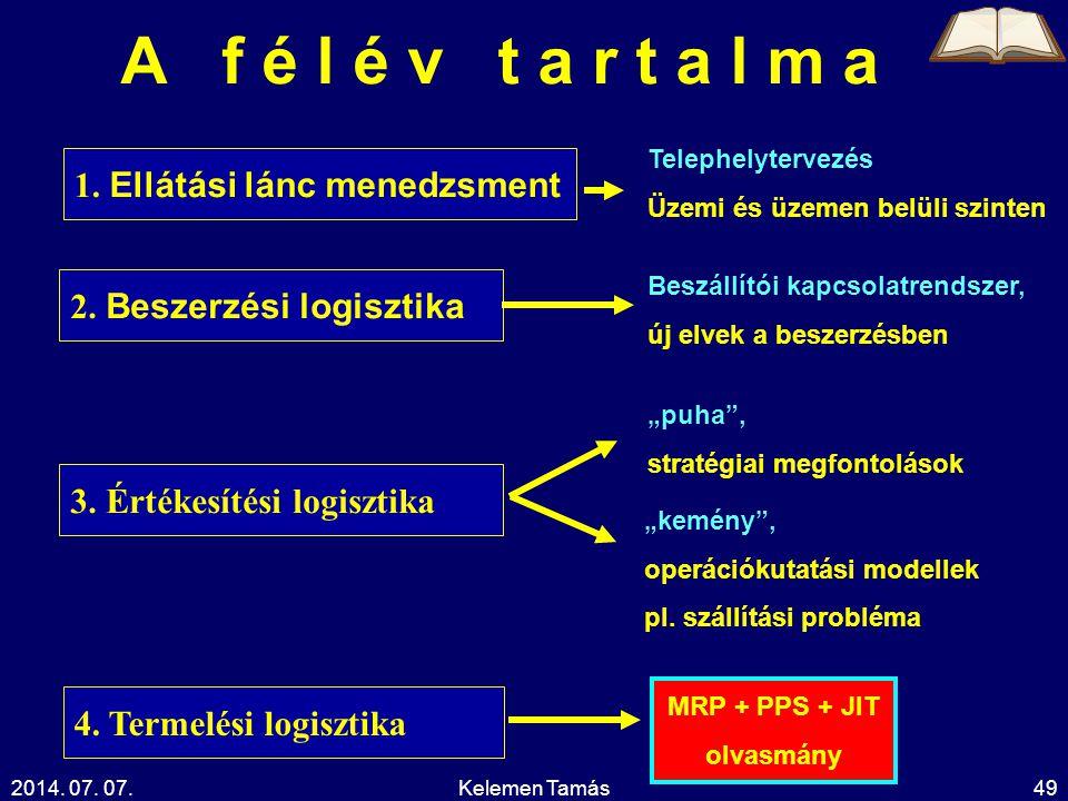 MRP + PPS + JIT olvasmány