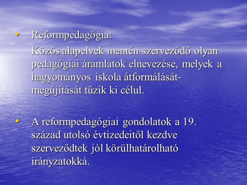 Reformpedagógia: