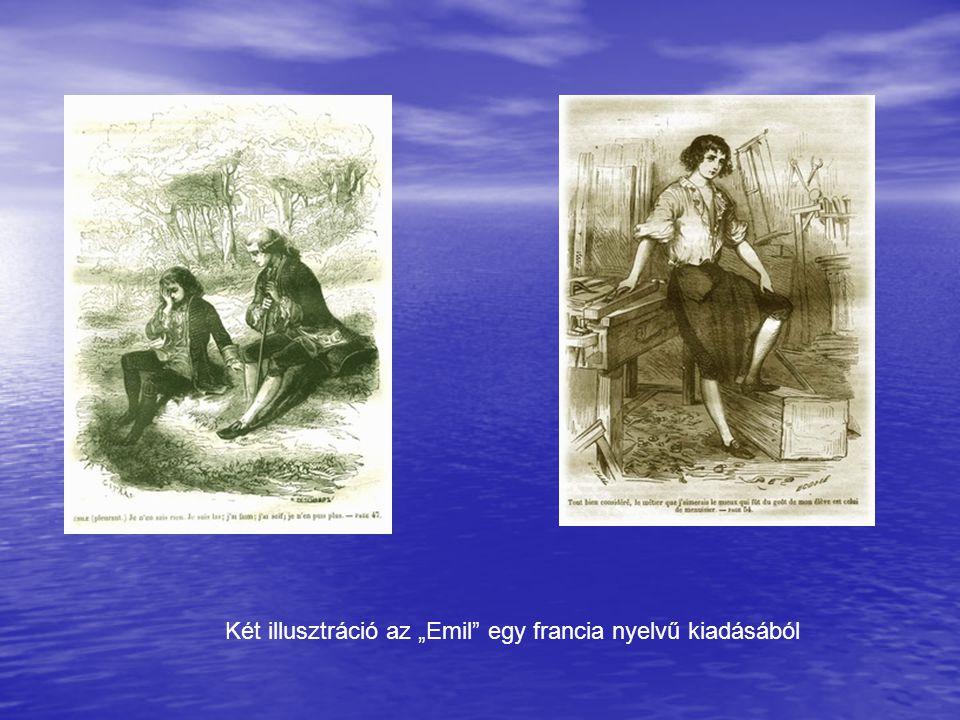 """Két illusztráció az """"Emil egy francia nyelvű kiadásából"""