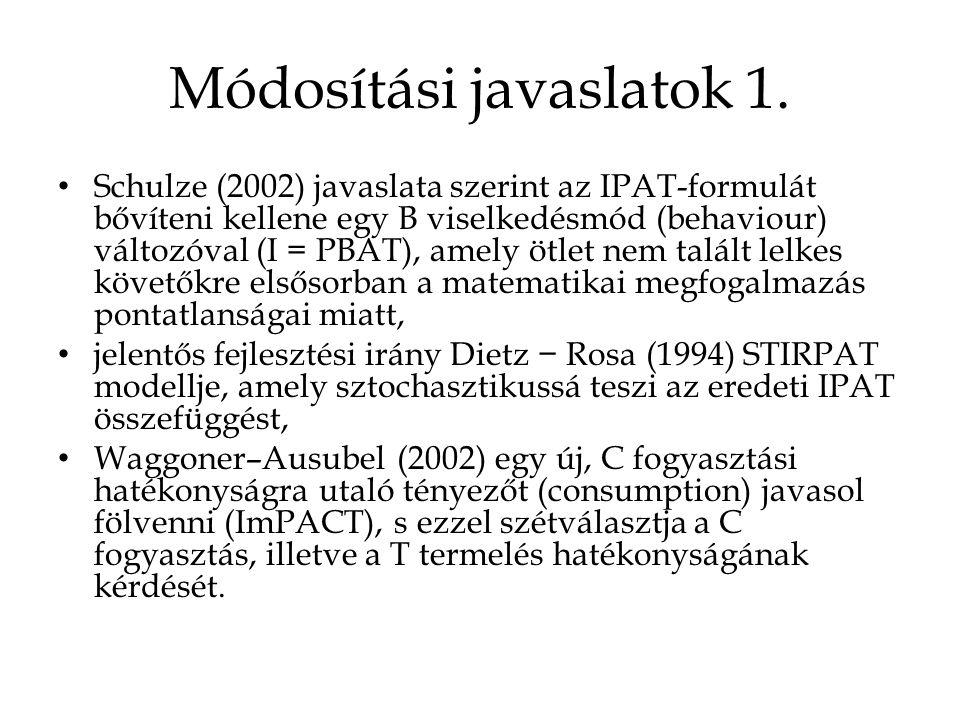 Módosítási javaslatok 1.
