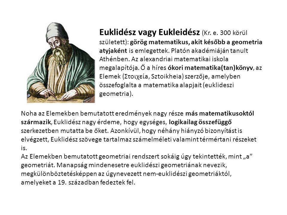 Euklidész vagy Eukleidész (Kr. e