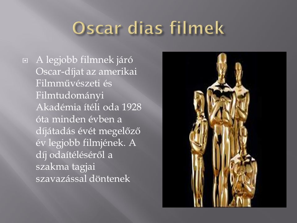 Oscar dias filmek
