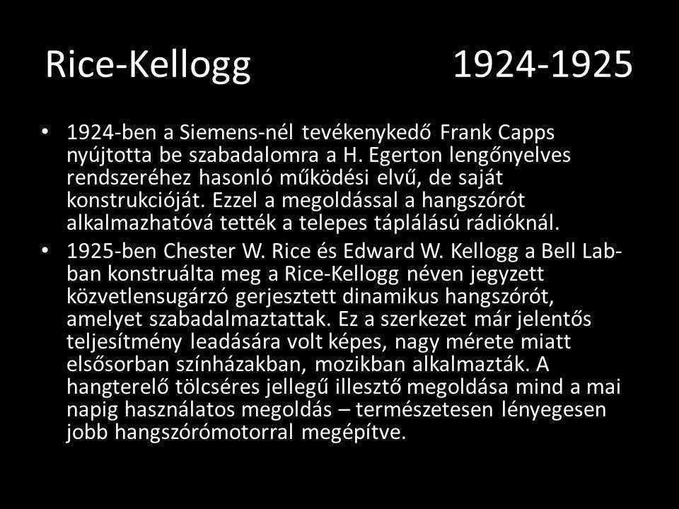 Rice-Kellogg 1924-1925