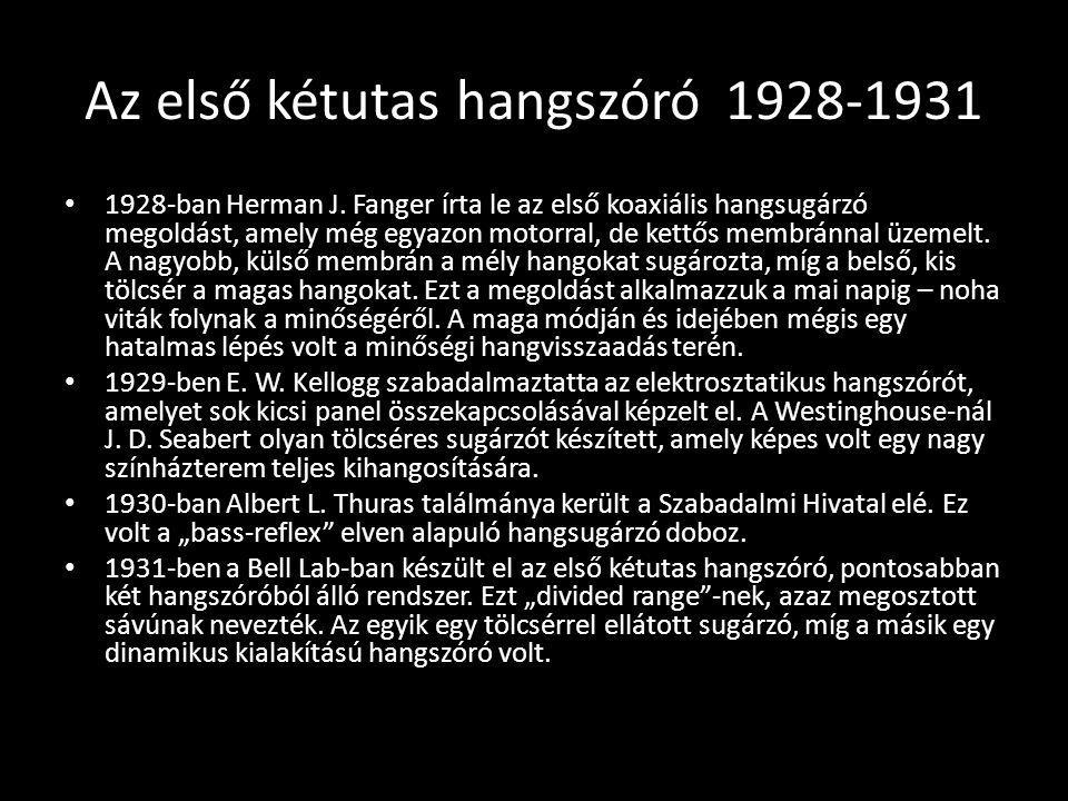 Az első kétutas hangszóró 1928-1931