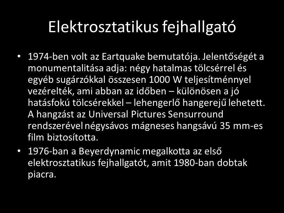 Elektrosztatikus fejhallgató