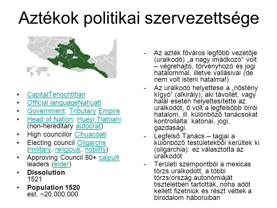 Aztékok politikai szervezettsége