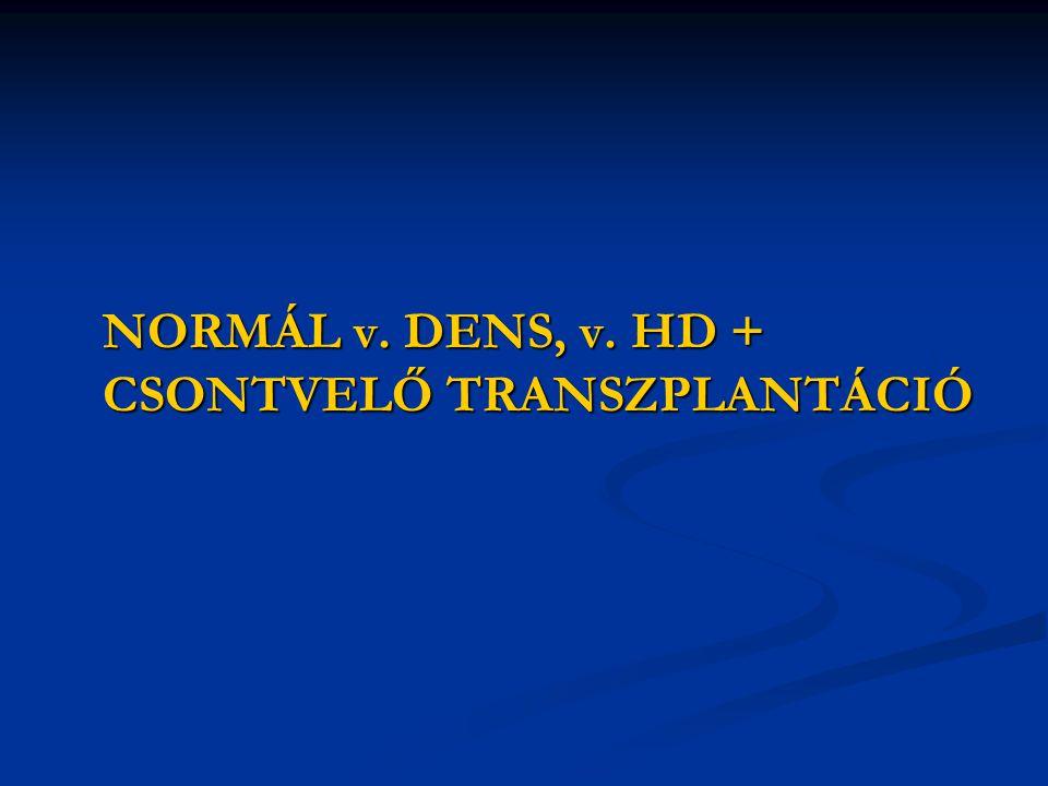 NORMÁL v. DENS, v. HD + CSONTVELŐ TRANSZPLANTÁCIÓ