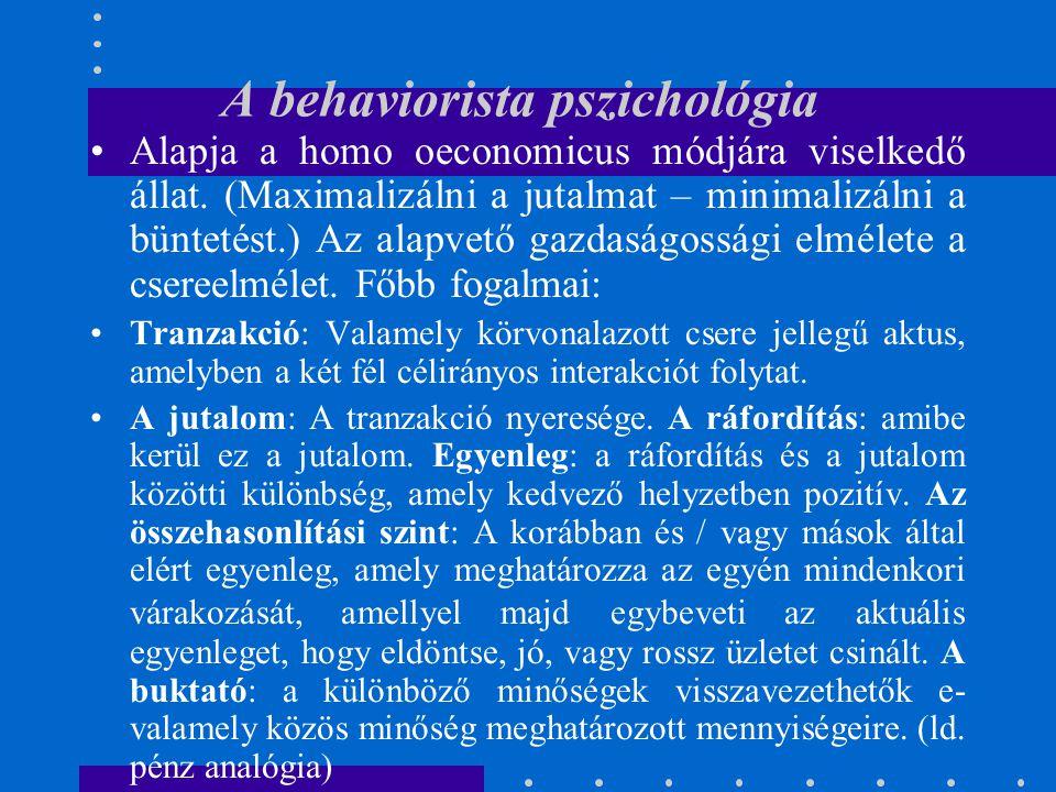 A behaviorista pszichológia