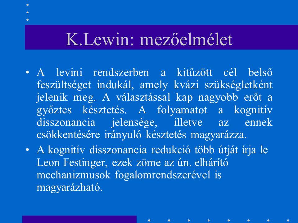 K.Lewin: mezőelmélet