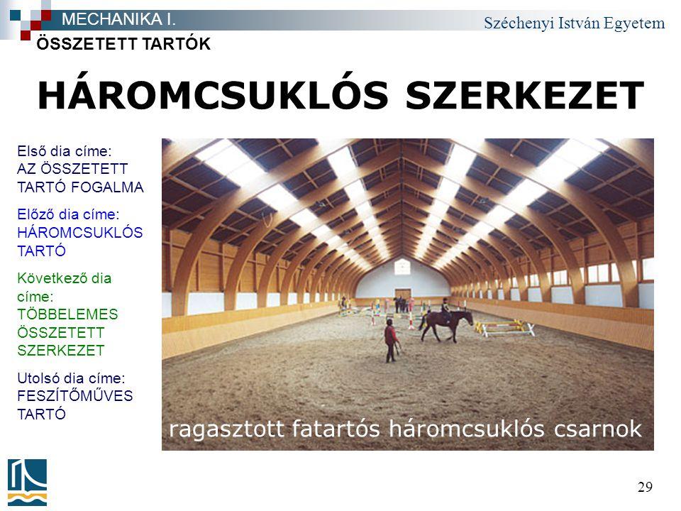 HÁROMCSUKLÓS SZERKEZET