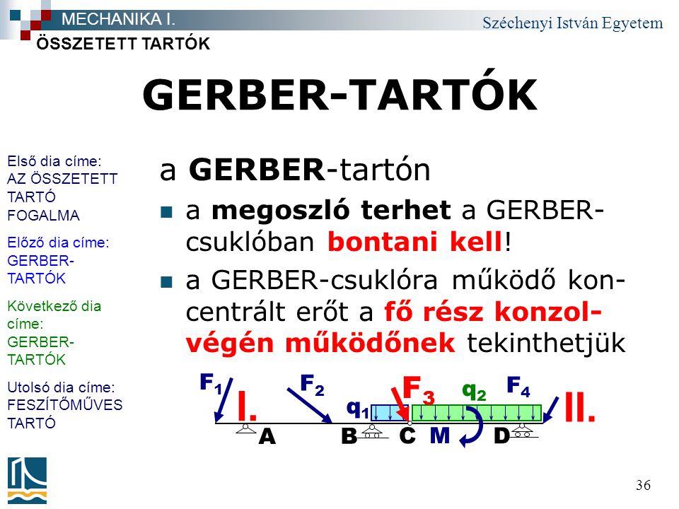 GERBER-TARTÓK I. II. a GERBER-tartón F3