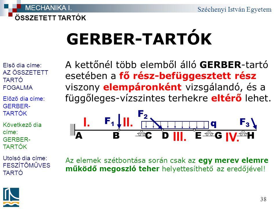 GERBER-TARTÓK II. I. IV. III.