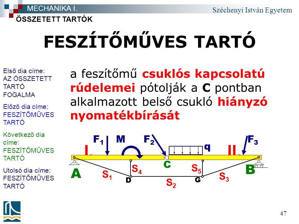 FESZÍTŐMŰVES TARTÓ II. I. B A