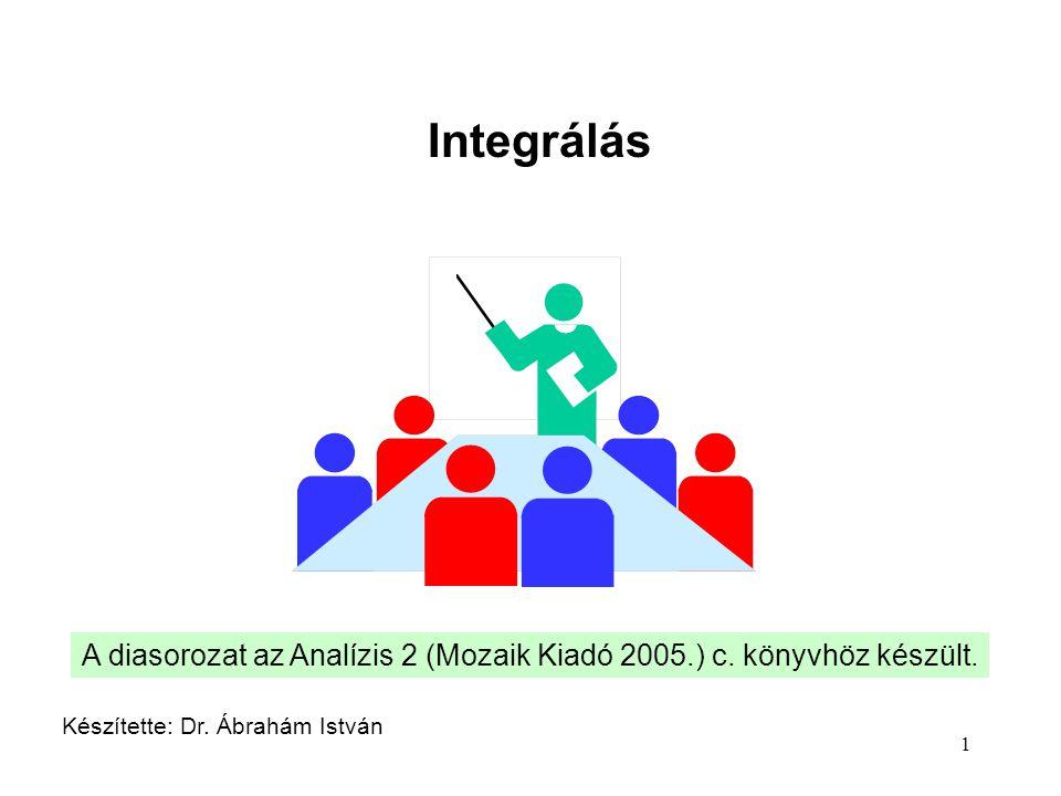 Integrálás A diasorozat az Analízis 2 (Mozaik Kiadó 2005.) c.
