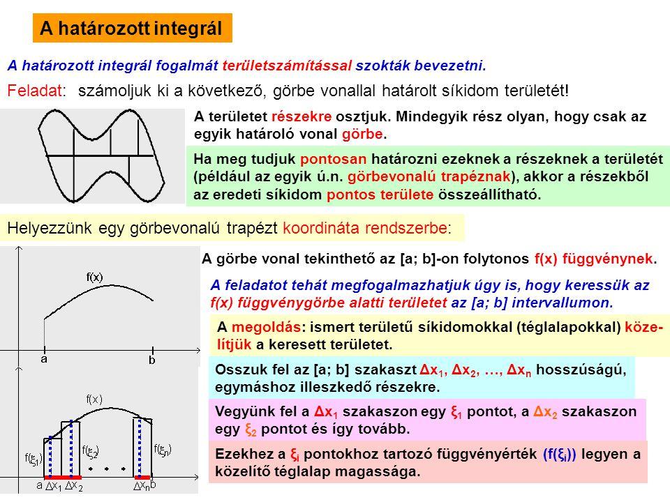 A határozott integrál Feladat: