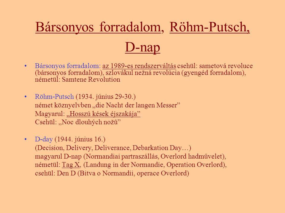 Bársonyos forradalom, Röhm-Putsch, D-nap