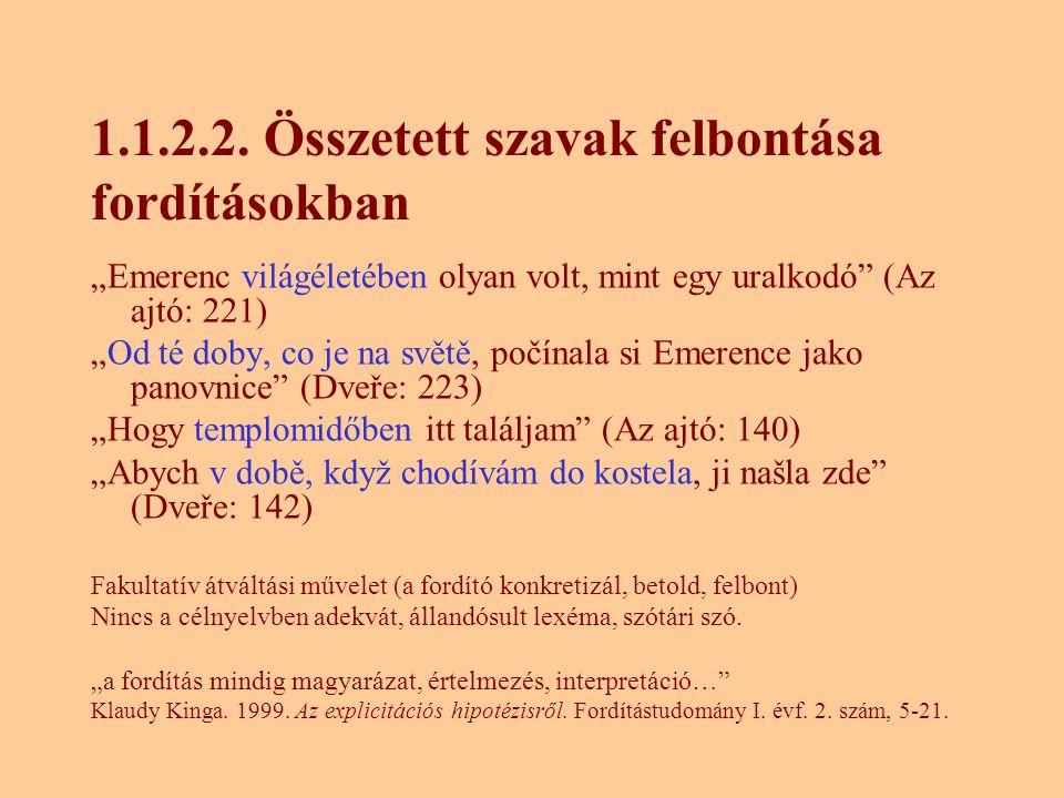 1.1.2.2. Összetett szavak felbontása fordításokban