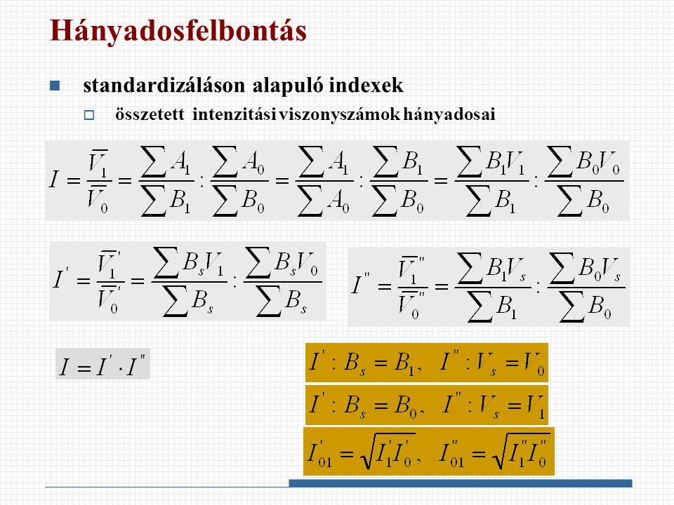 Hányadosfelbontás standardizáláson alapuló indexek