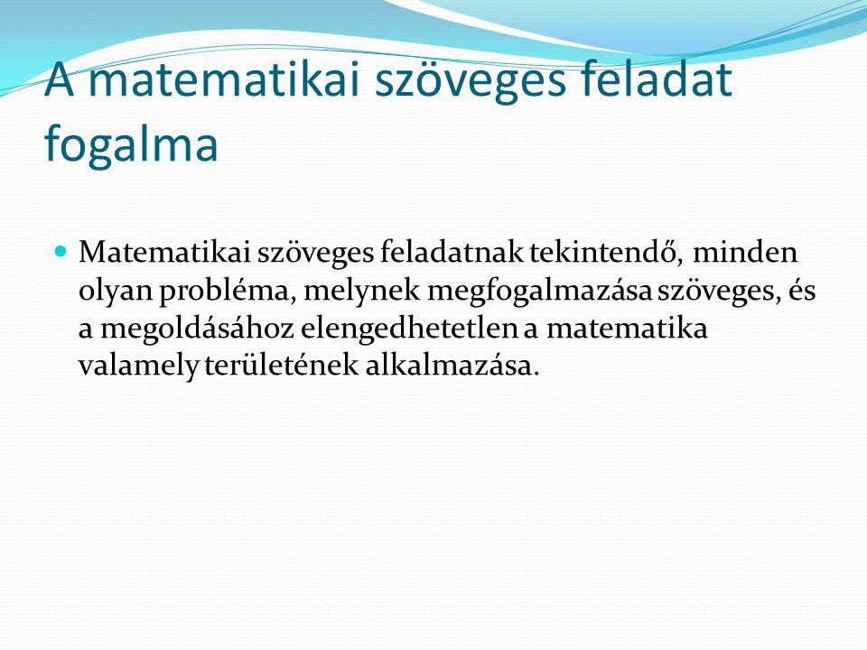 A matematikai szöveges feladat fogalma