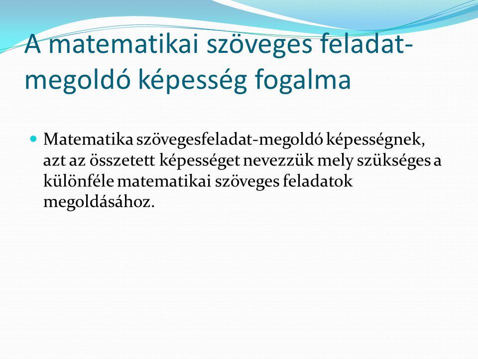 A matematikai szöveges feladat-megoldó képesség fogalma