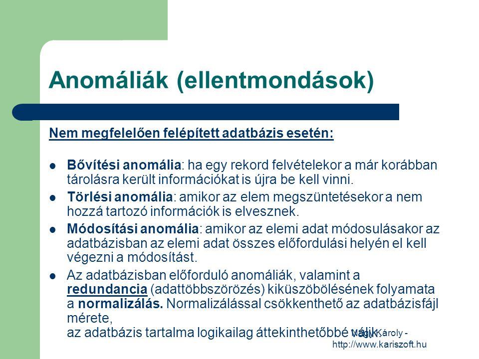 Anomáliák (ellentmondások)