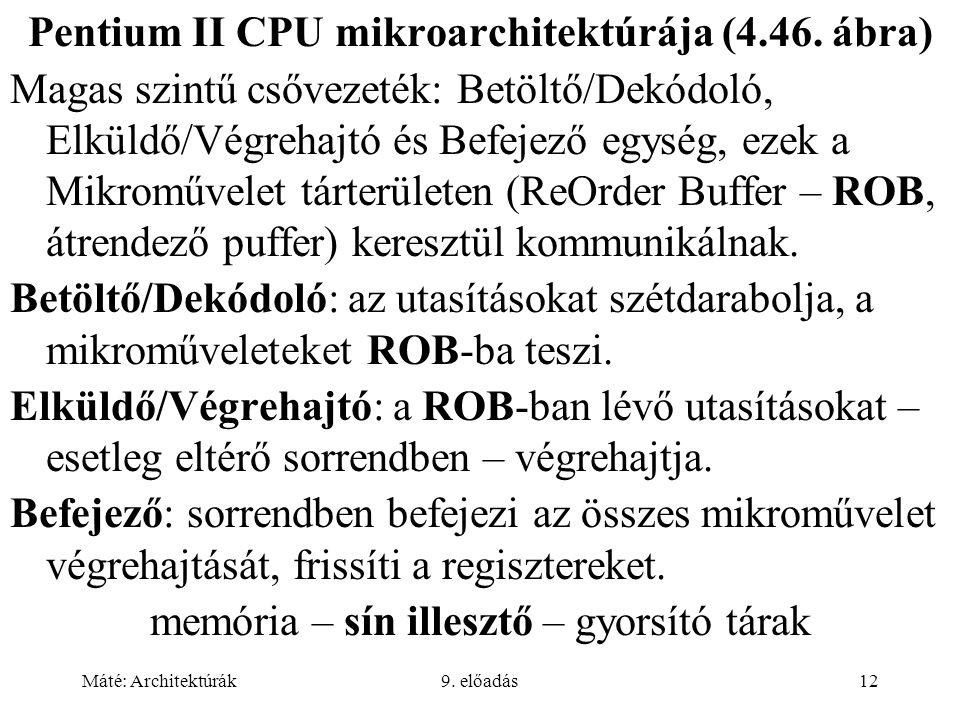 Pentium II CPU mikroarchitektúrája (4.46. ábra)