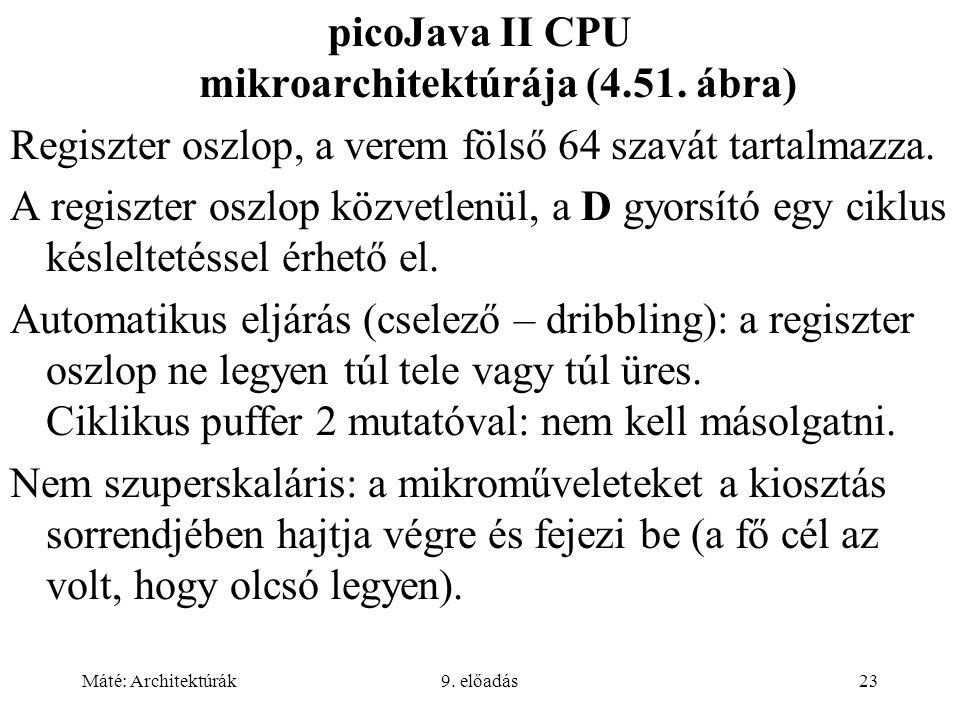 picoJava II CPU mikroarchitektúrája (4.51. ábra)