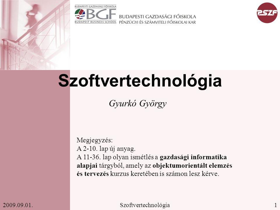 Szoftvertechnológia Gyurkó György