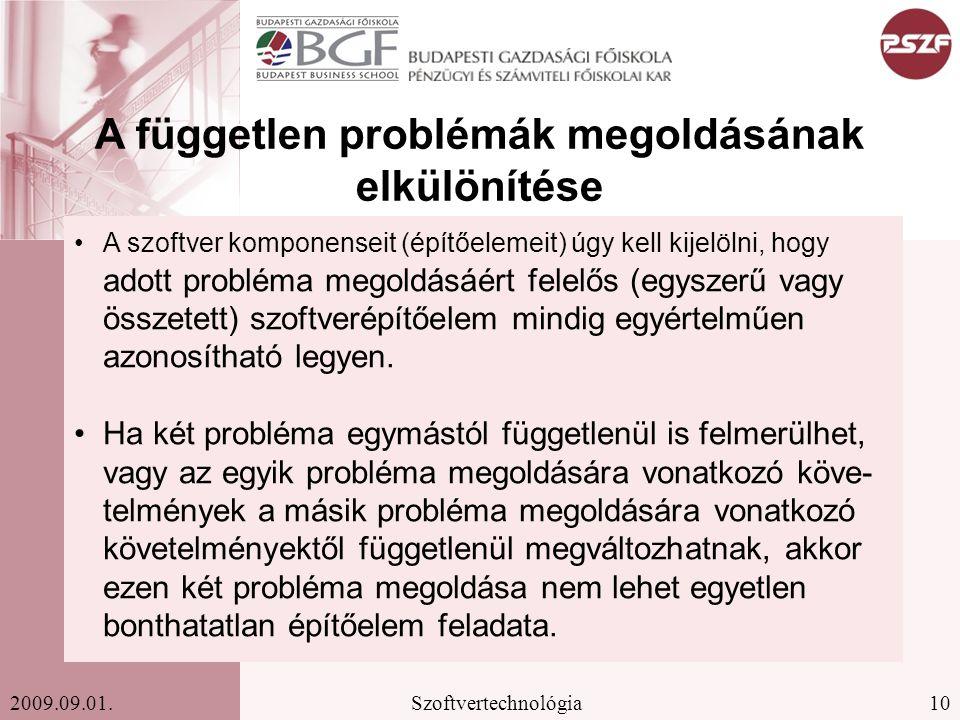 A független problémák megoldásának elkülönítése