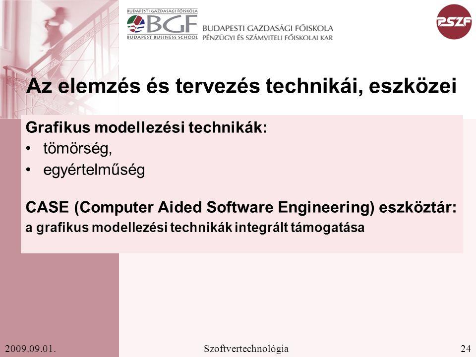 Az elemzés és tervezés technikái, eszközei