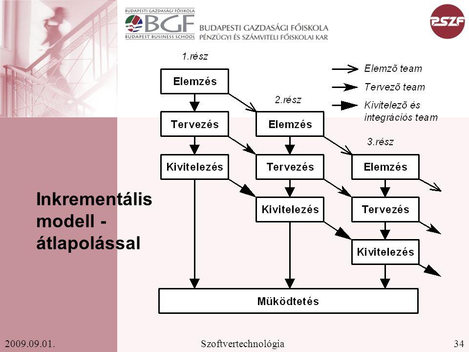 Inkrementális modell - átlapolással