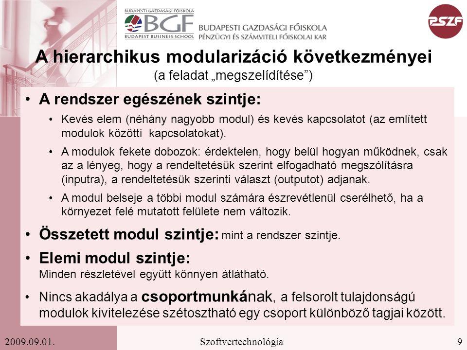 """A hierarchikus modularizáció következményei (a feladat """"megszelídítése )"""