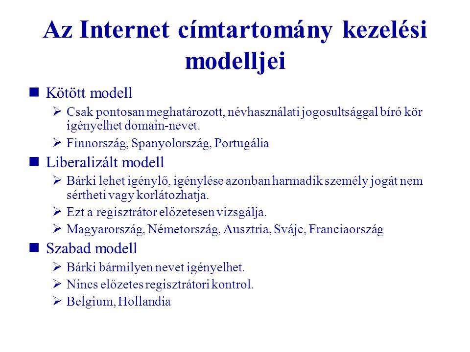 Az Internet címtartomány kezelési modelljei