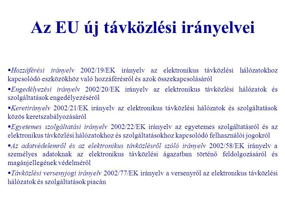 Az EU új távközlési irányelvei