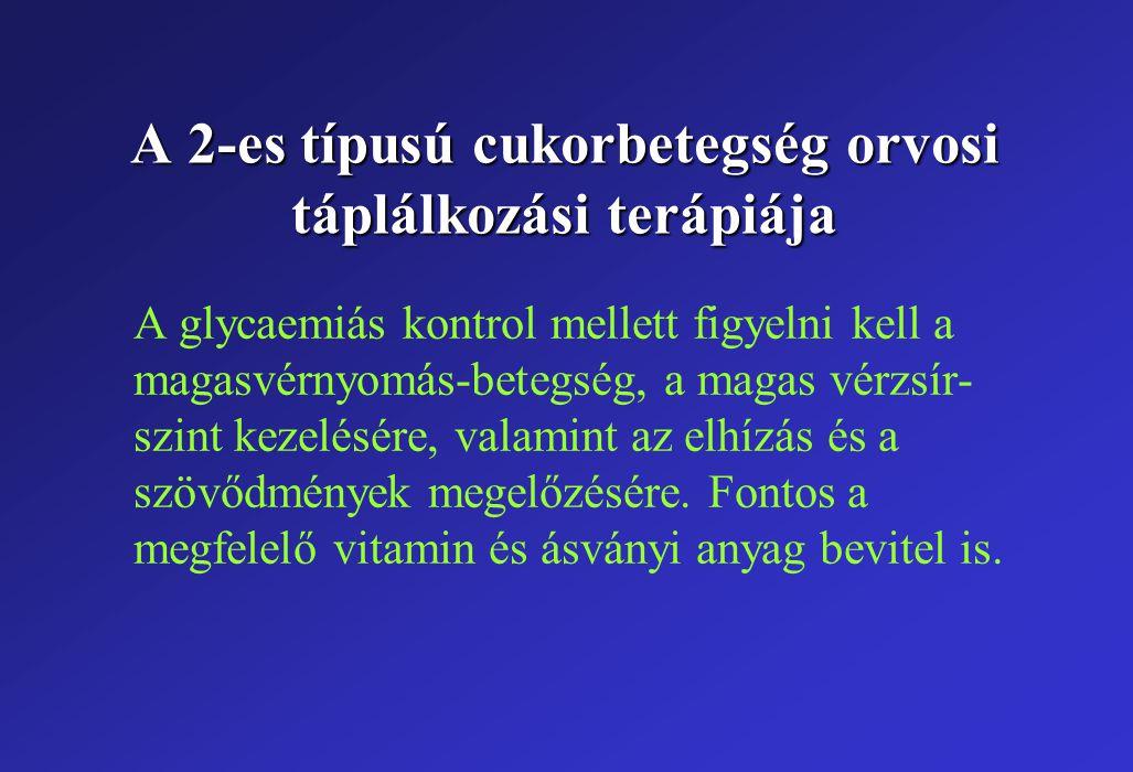 A 2-es típusú cukorbetegség orvosi táplálkozási terápiája