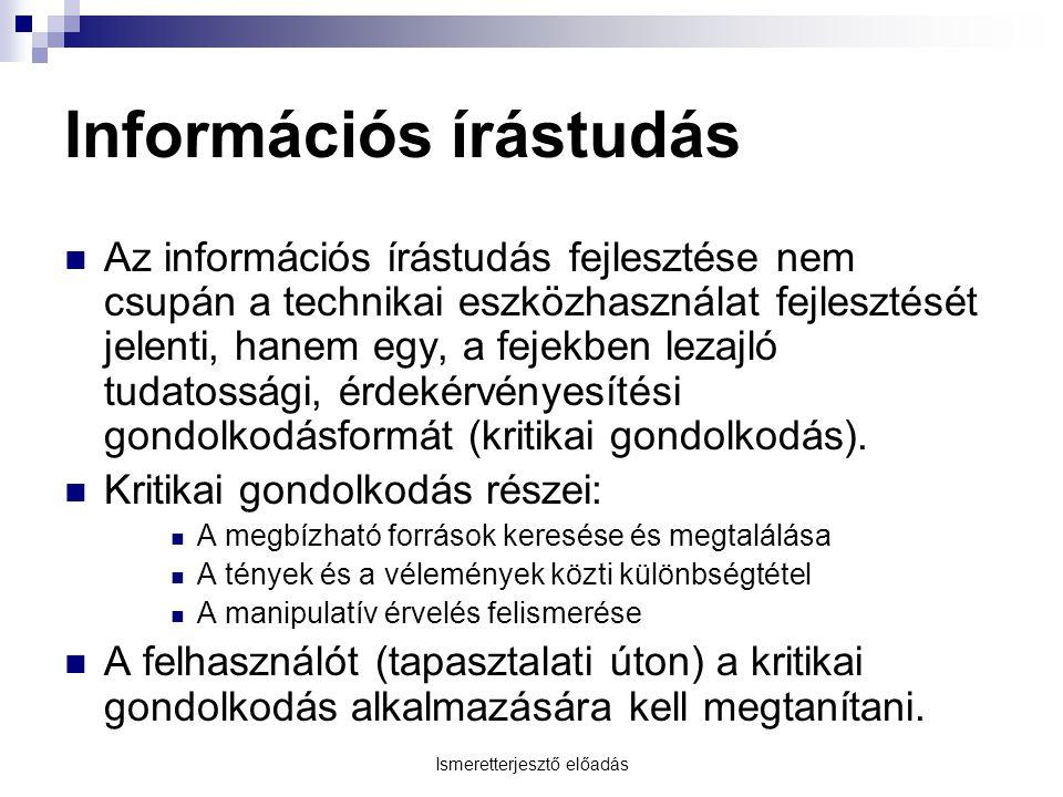 Információs írástudás