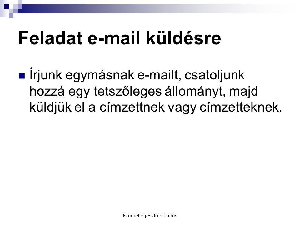 Feladat e-mail küldésre