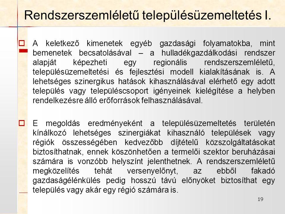 Rendszerszemléletű településüzemeltetés I.