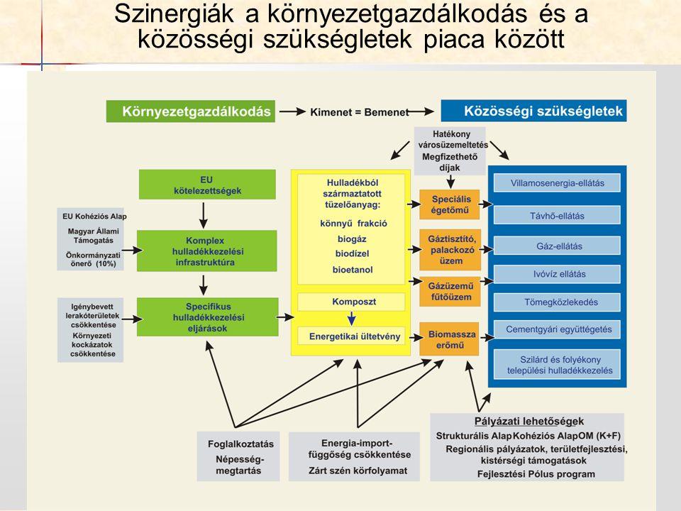 Szinergiák a környezetgazdálkodás és a közösségi szükségletek piaca között
