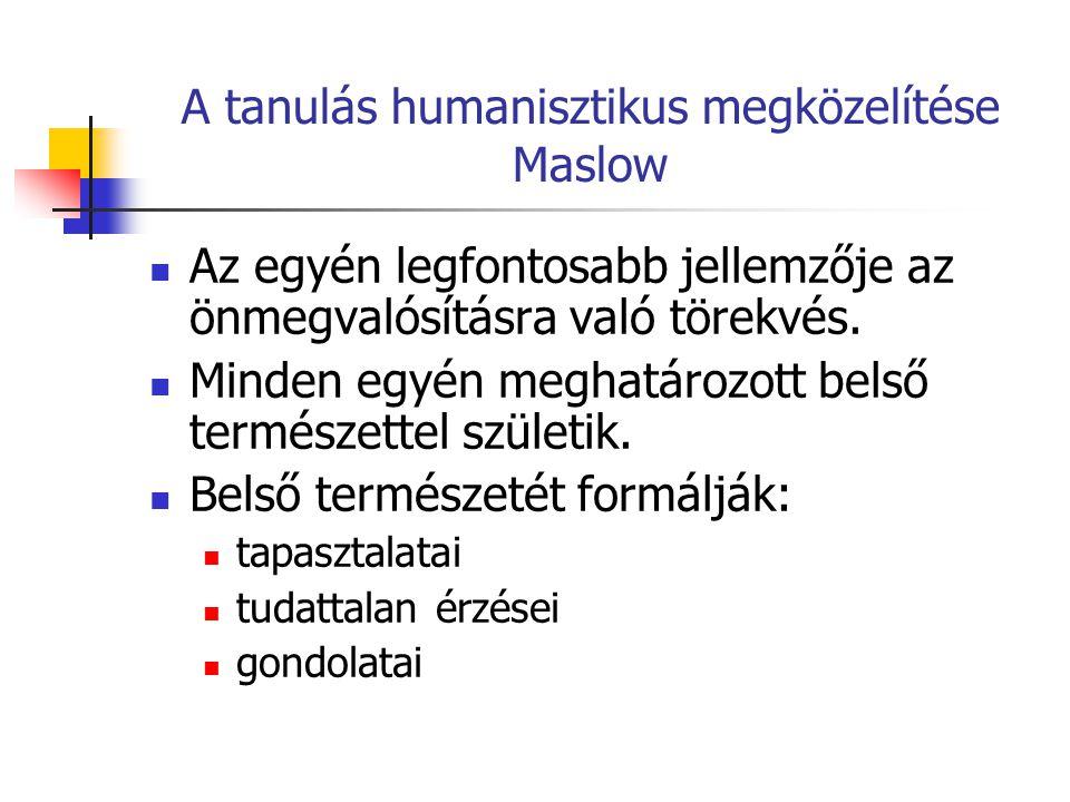 A tanulás humanisztikus megközelítése Maslow
