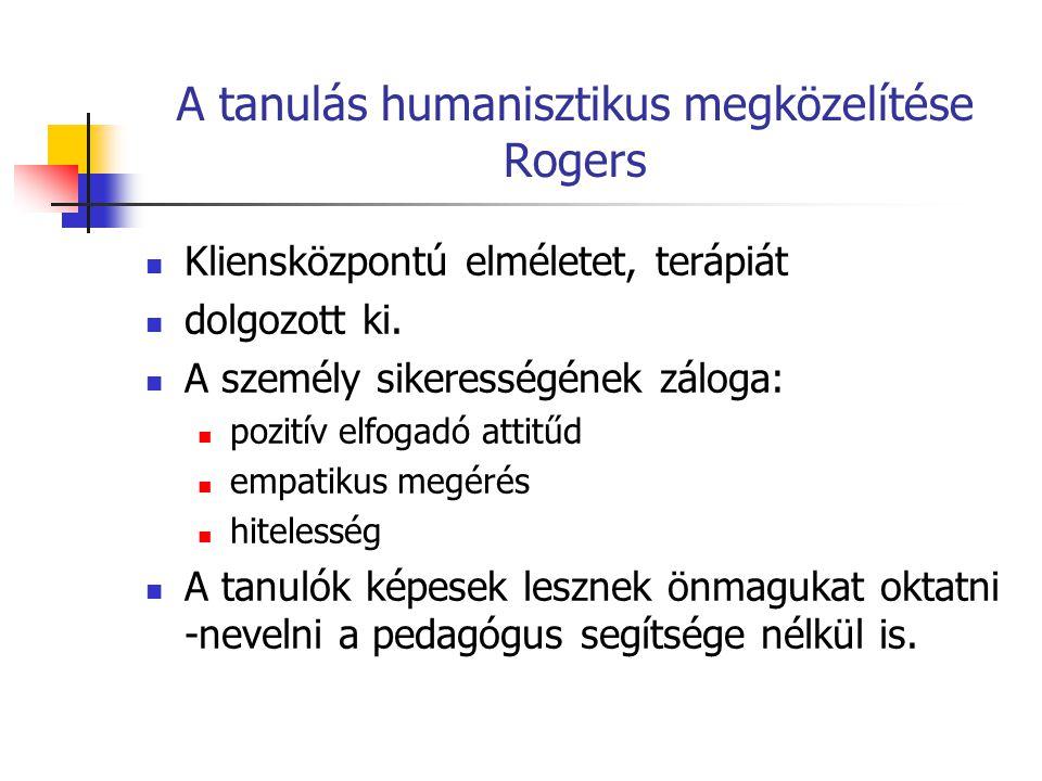 A tanulás humanisztikus megközelítése Rogers