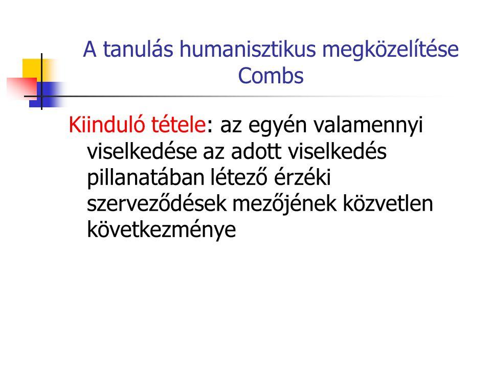 A tanulás humanisztikus megközelítése Combs
